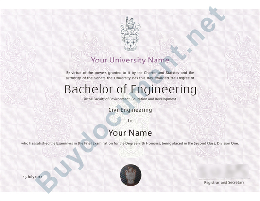 <b>United Kingdom University Diploma/Degree</b>
