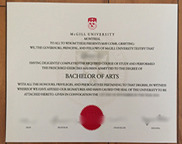buy McGill University fake diploma from Montreal, purchase Canada fake degree