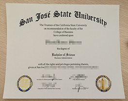 buy fake degree of San Jose State University, SJSU diploma sample
