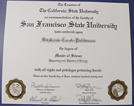 San Francisco State University degree sample, buy fake diploma of SFSU