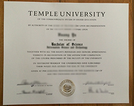 buy fake diploma of Temple University, fake degree in Pennsylvania