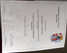 Canterbury Christ Church University degree sample, buy UK fake diploma