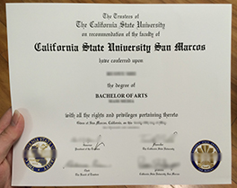 California State University San Marcos diploma sample, buy CSU fake degree