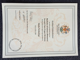 De Montfort University diploma sample