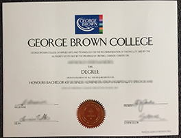 fake George Brown College diploma order