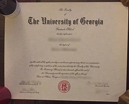 University of Georgia diploma sample