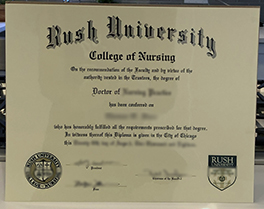 fake Rush University diploma sample