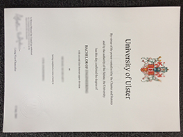 fake University of Ulster diploma sample