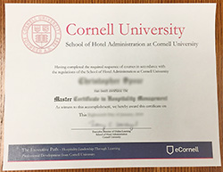 Fake Cornell University School of Hotel Administration Diploma