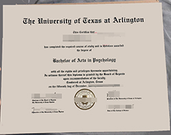 Buy Fake University of Texas at Arlington Diploma