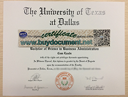 Make University of Texas at Dallas (UTD) Diploma in USA