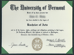 Buy Fake University of Vermont (UVM) Diploma&Transcript