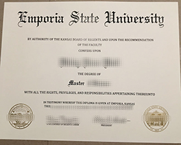 Buy Fake Degree From Emporia State University, Fake Diploma Maker