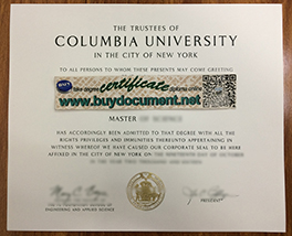 Buy Fake Columbia University Degree Certificate, Fake USA Diploma