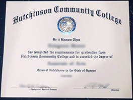 How to Oeder Fake Hutchinson Community College Certificate?