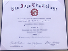 Buy Fake San Diego City College Diploma Online, Fake Degree Maker