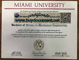 Where to Buy Fake Miami University Diploma Certfiicate