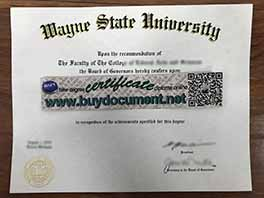 OMG! The Best Fake Wayne State University diploma Certificate!