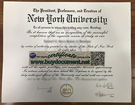 Fake New York University (NYU) Diploma and Transcript for sale