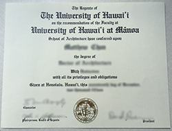 How To Buy A Degree From The University of Hawaii? U.H. Mānoa Diploma