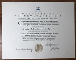 How Much Is The Fake University of Pennsylvania Degree Certificate?