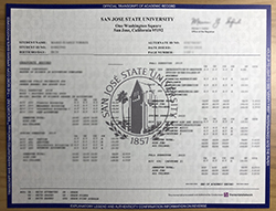 How To Duplicate The San Jose State University Transcript And Degree Certificate?