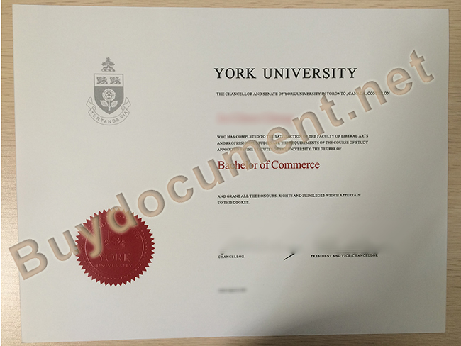 buy York University fake diploma, York University degree sample