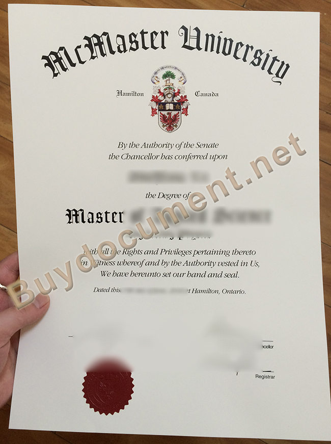 fake McMaster University degree, McMaster University diploma order