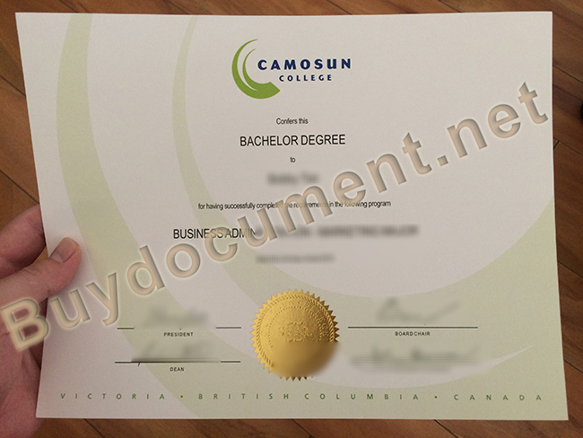 fake Camosun College degree, Camosun College diploma sample