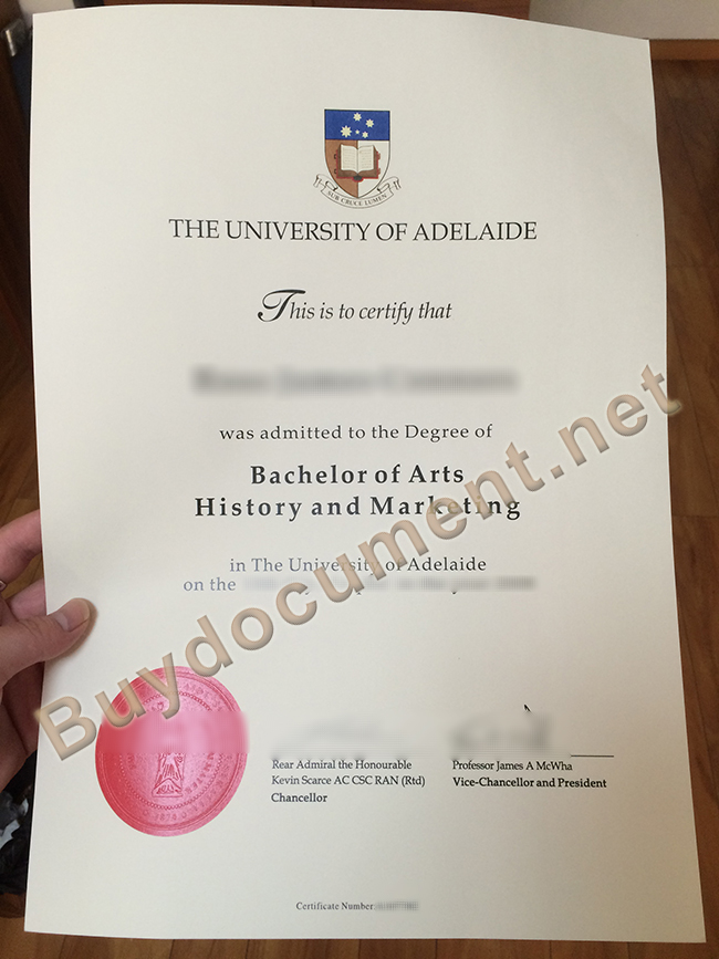 buy fake University of Adelaide diploma, University of Adelaide degree sample