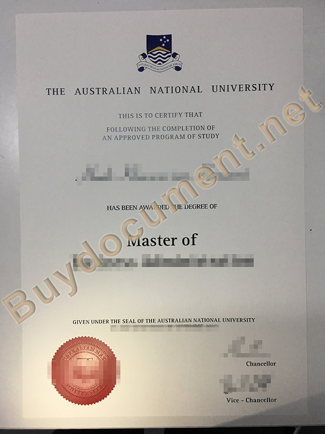 Australian National University degree sample, fake Australian National University diploma