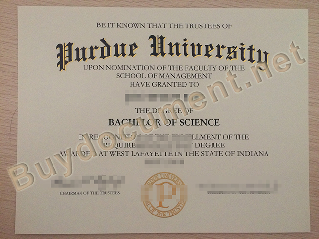 Purdue University degree sample, Purdue University diploma order