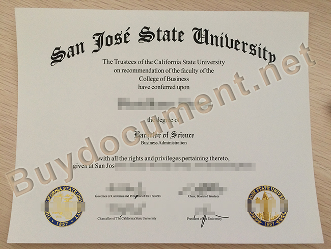 buy fake San Jose State University degree, San Jose State University diploma