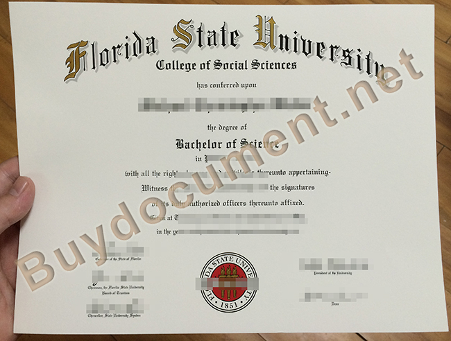 fake Florida State University diploma, Florida State University degree sample