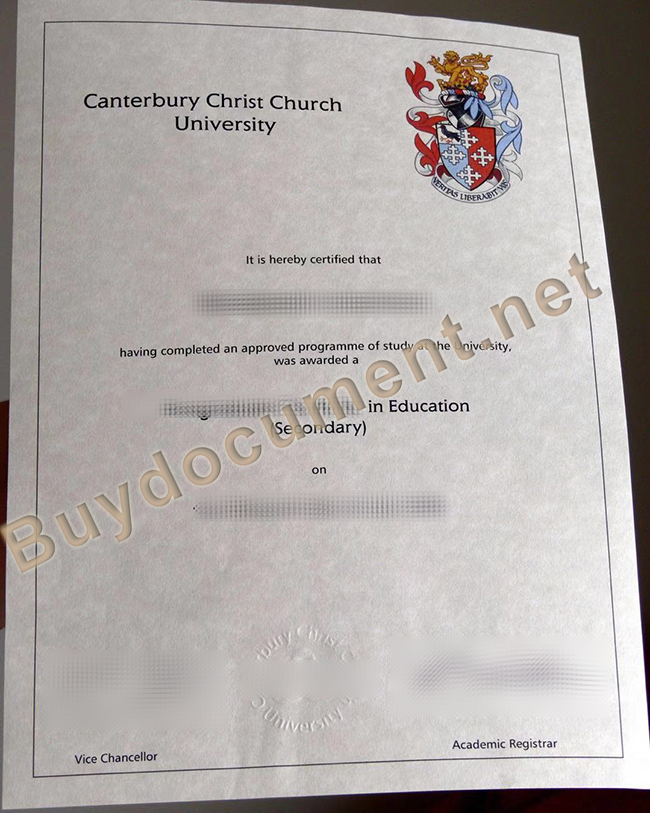 Canterbury Christ Church University fake diploma