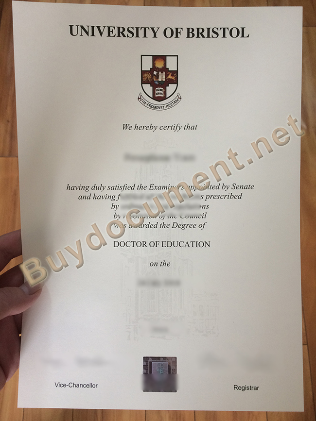 University of Bristol fake degree, University of Bristol diploma sample