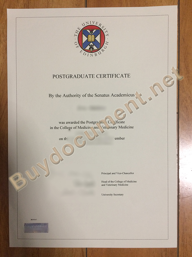 buy University of Edinburgh fake degree, University of Edinburgh diploma sample