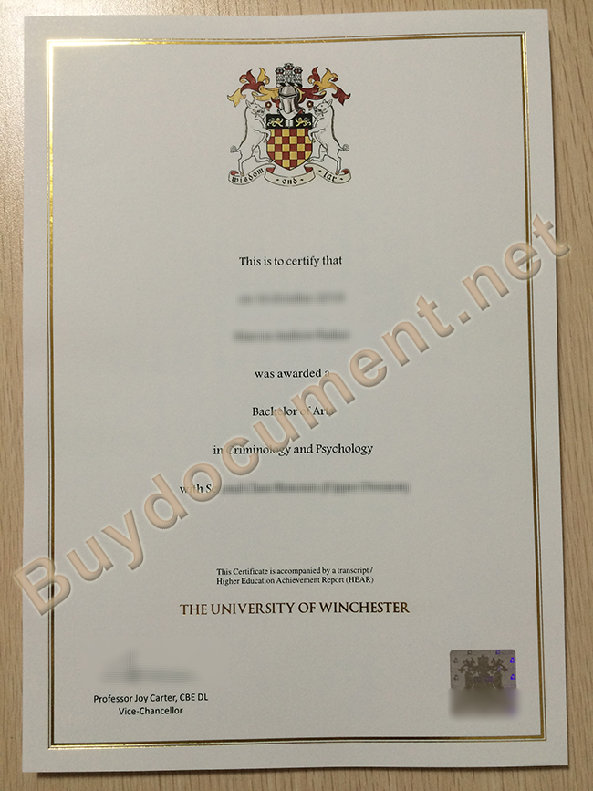 buy University of Winchester fake diploma, University of Winchester degree