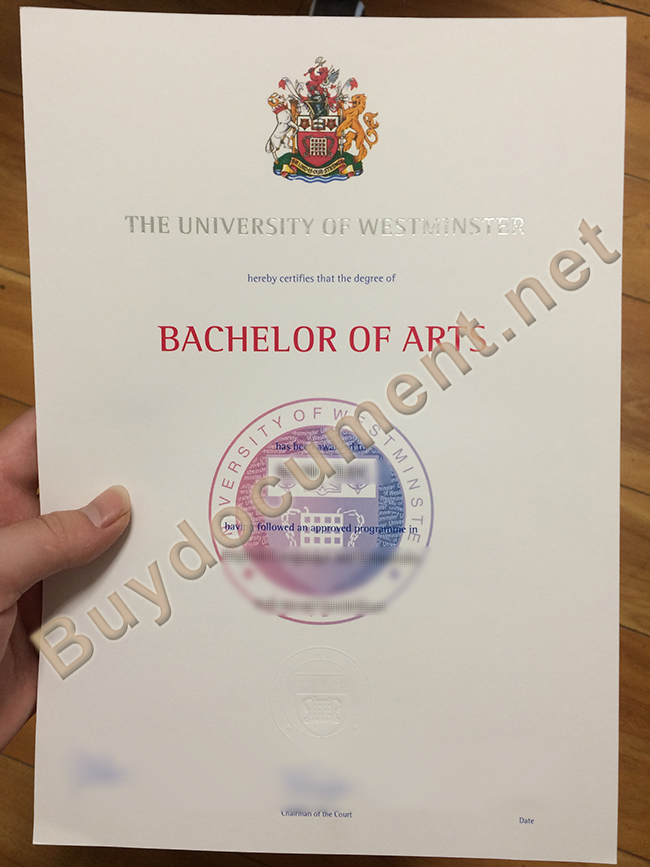 buy University of Westminster fake diploma, University of Westminster degree