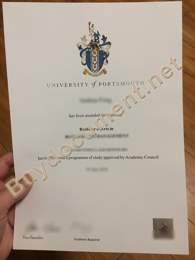 University of Portsmouth fake degree, University of Portsmouth diploma order