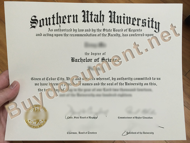 Southern Utah University fake degree, Southern Utah University diploma order