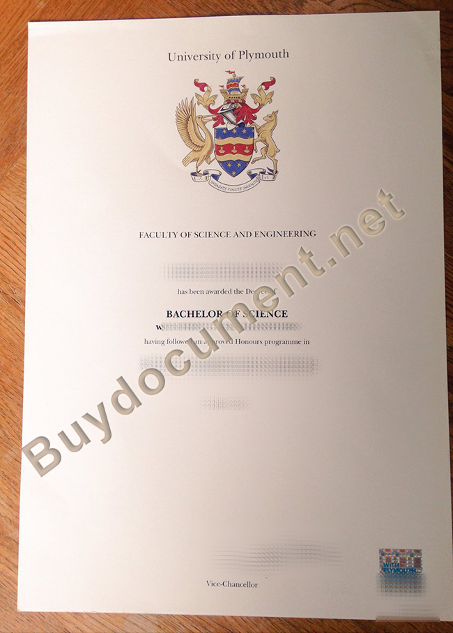 buy University of Plymouth fake diploma, University of Plymouth degree order