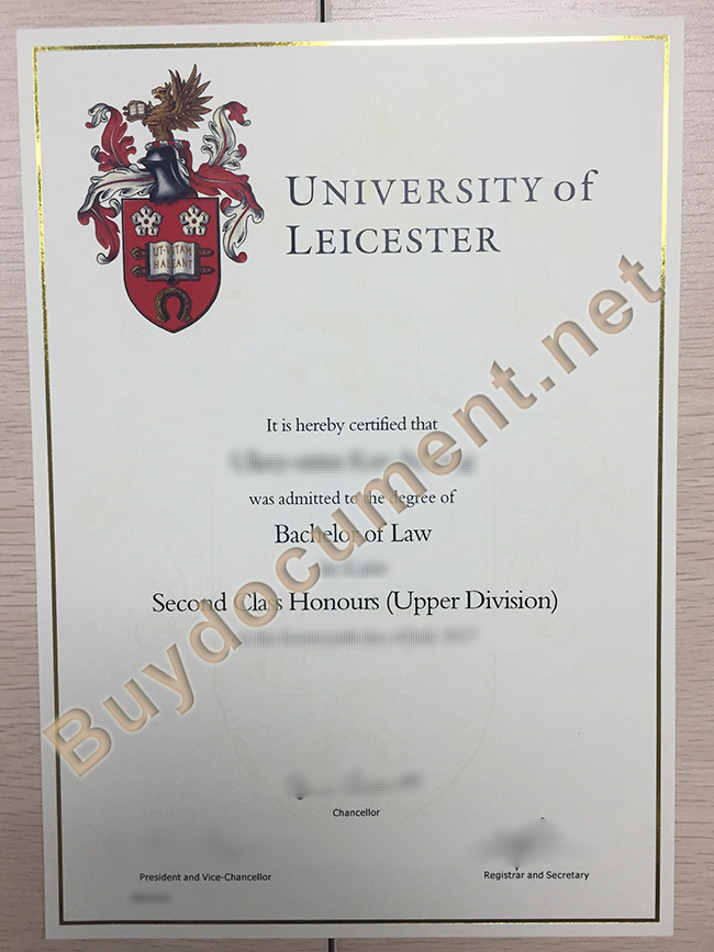buy University of Leicester fake diploma, University of Leicester degree sample