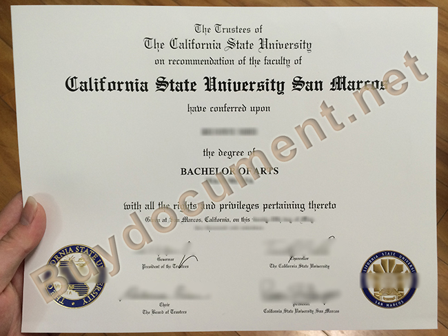 CSU fake diploma, California State University San Marcos fake degree