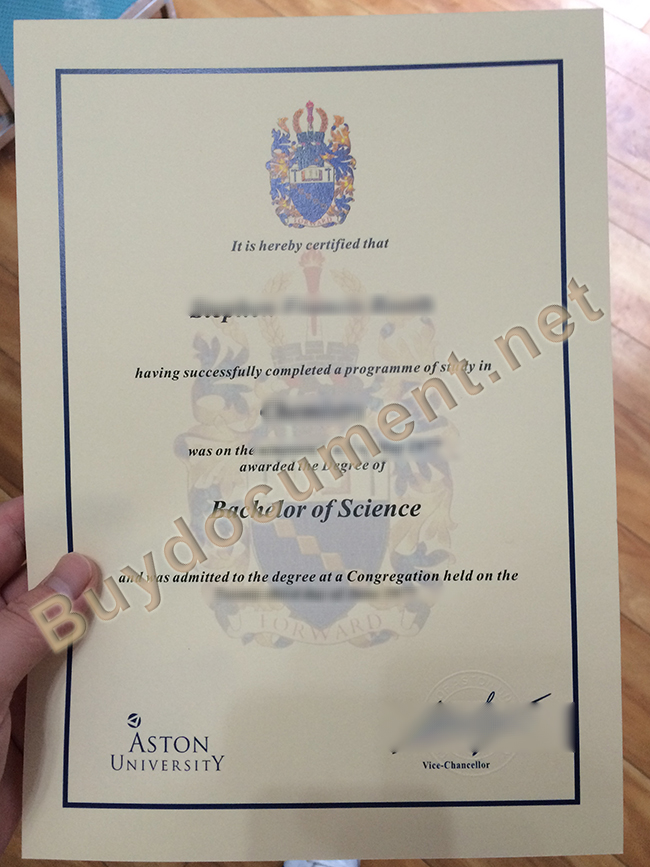 Aston University fake diploma, Aston University degree sample