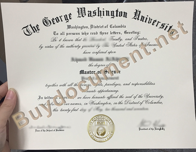 buy George Washington University fake diploma, George Washington University degree
