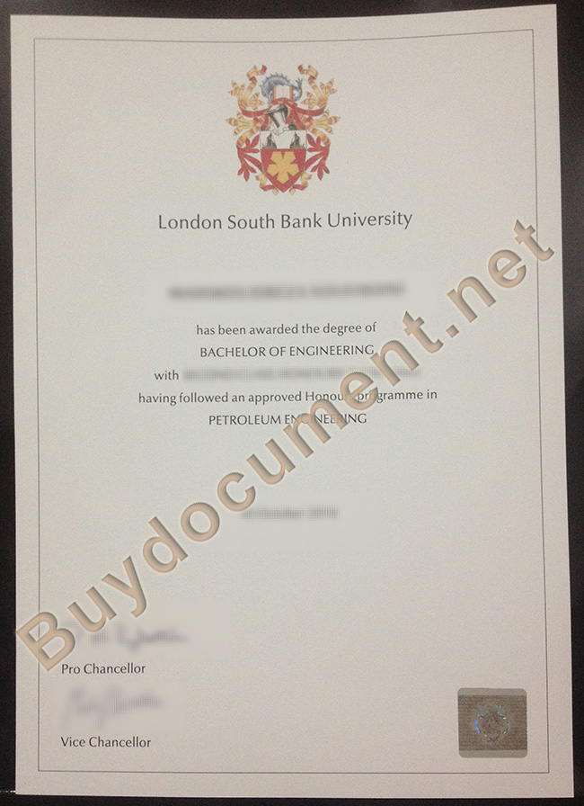London South Bank University diploma, London South Bank University degree
