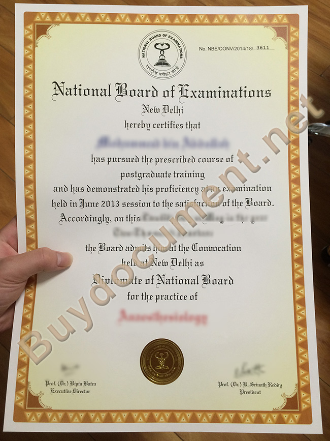 National Board of Examinations diploma, National Board of Examinations certificate