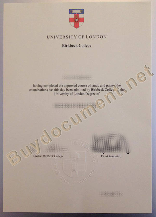 University of London fake degree, buy Birkbeck College fake diploma