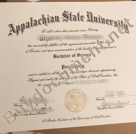 fake Appalarchian State University diploma, buy fake degree